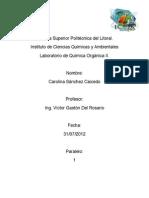 Informe de Labortorio de Química Orgánica II