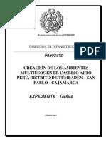 memoria del expediente tecnico multiuso-MUNICIPALIDAD DISTRITAL DE TUMBADEN.docx