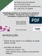 CQ-PROGRAMA NACIONAL DE CONTROLE DO CÂNCER DE COLO