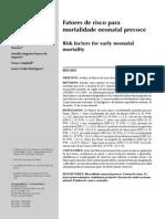 Schoeps mortalidade neonatal análise hierarquizada