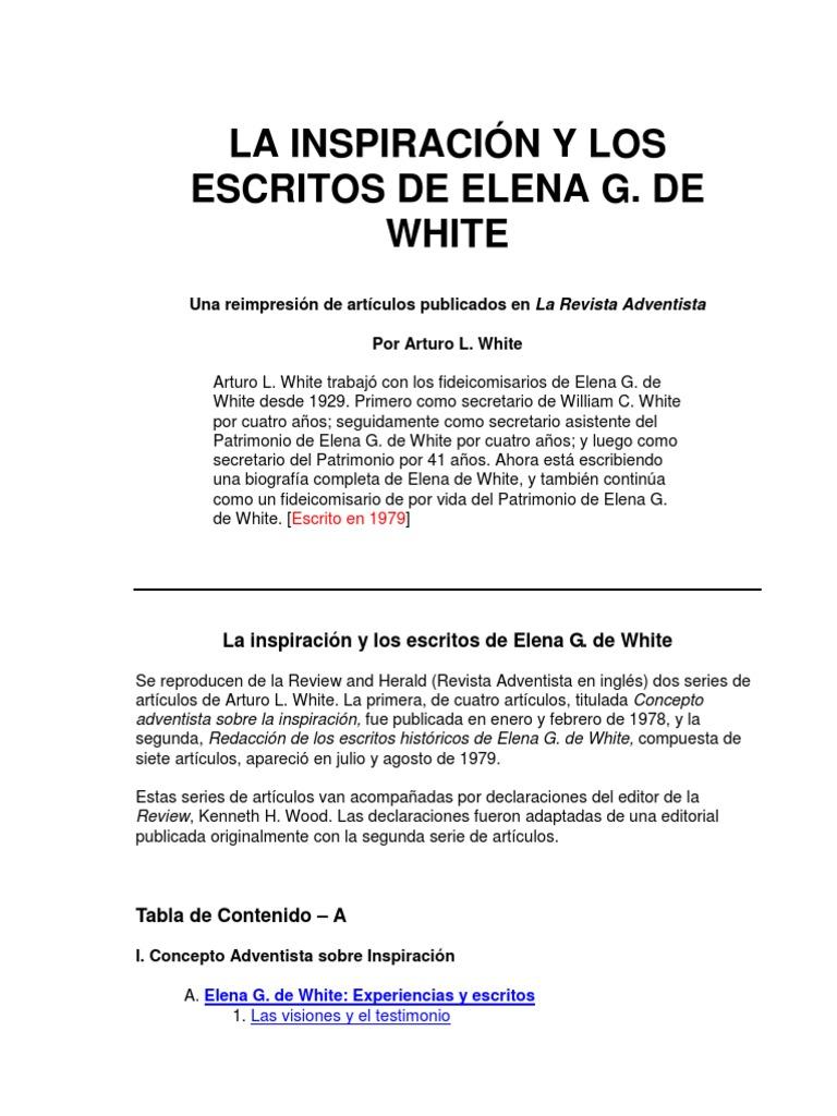 La Inspiracion y Los Escritos de Elena g. de White