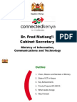 Day 2-Dr Fred Matiangi-Cabinet Secretary-Ministry of Information Communications and Technology-Role of National Development Plans-Connected Kenya 2014