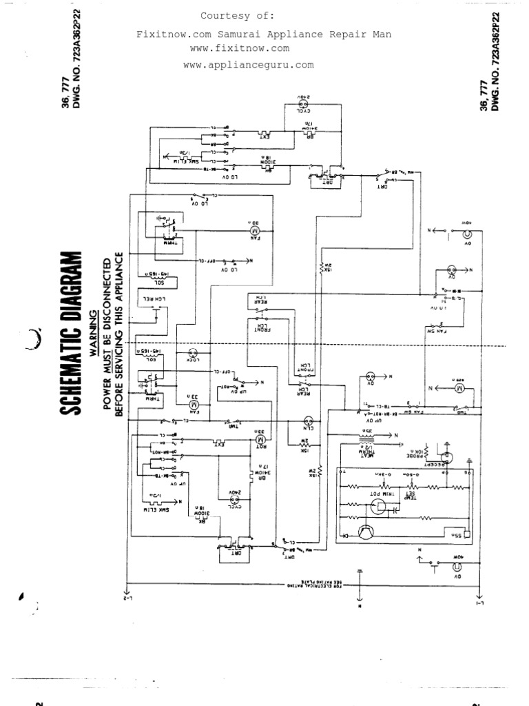 Schematic and Wiring Diagram for the GE JKP36G004BG Double