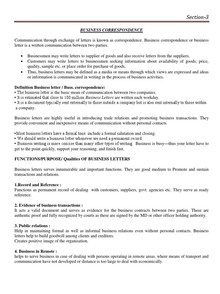 Business correspondence paragraph business altavistaventures Choice Image