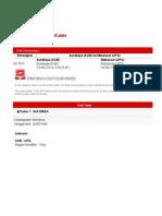 Airasia E-Ticket UHTJWH