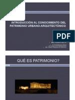Introduccion Al Patrimonio