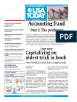 Accounting Fraud - Part I .Problems (USA Today)