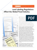 How Enhanced Labeling Regulations Affect the Global Food Industry