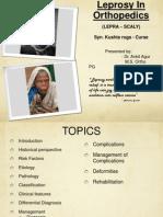 Leprosy in orthopedics