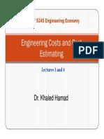 Engineering Costs Estimation