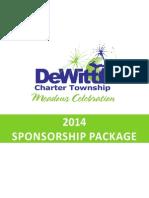 Sponsorship Package 2014