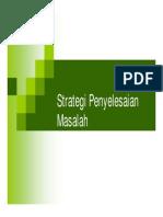 Strategi Penyelesaian Masalah