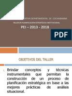 Taller Pei Asamblea Departamental de Cochabamba