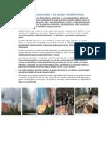 Los problemas ambientales y los países de la América