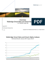 Walbridge 2013 AUG Large-Cap Smart Beta and Smart Alpha Indexes