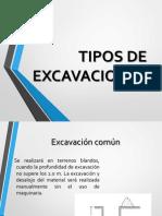 Tipos de Excavaciones y Rellenos