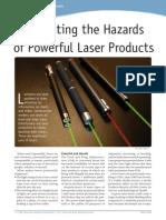 (FDA) Illuminating the Hazards of Powerful Laser Products - 2009