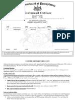 level ii certificate
