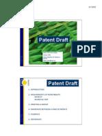 Patent Draft - Esther Arias - Alicante 2009