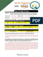 vsu educ 202 class profile form
