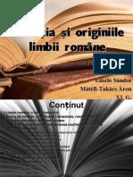 Evoluția+și+originiile+limbii+române