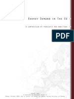 Energy Demand in the EU - A Comparision of Forecasts and Ambitions