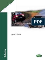Defender Owners Manual