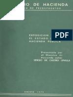 Exposicion Sobre El Estado de La Hacienda Publica