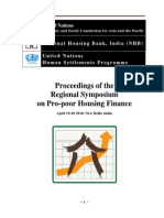 Proceedings of Regional Symposium on Pro-poor Housing Finance 2010