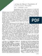 Denomy, A.J.(1954) the Vocabulary of Jean de Meun's Translation of Boethius' de Consolatione Philosophiae