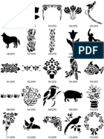 eBook - Art - Dover Clipart Nature Stencil Designs Catalogue 151-300