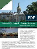 Americans for Prosperity Taxpayer Scorecard, 215th Legislative Session