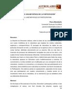 Montebello - Simondon, Una Metafisica de La Participacion