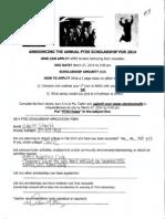 ptso scholarship application