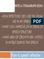 how to speaking reflection