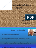Hofstede's Cultural Dimension