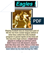 PLAYING FOOTBALL for GRAND RAPIDS CHRISTIAN HIGH EAGLES & MORE, 4 CHRIST ! 1982-85
