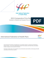 International Federation of Health Plans 2013 Comparative Price Report