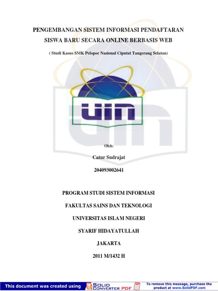 Contoh Proposal Skripsi Sistem Informasi Sekolah Berbasis Web Berbagi Contoh Proposal