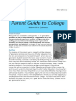 The Informal College Guide for Parents of 1st Generation Students