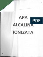 Despre Apa Alcalina