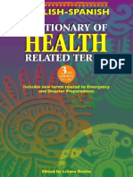 Dictionary of Health related terms English Spanish