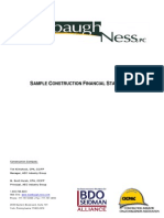 Sample Contractor Financial Statement by Stambaugh Ness