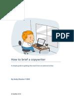 How to Brief a Copywriter
