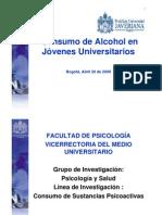 Consumo de Alcohol en Jovenes Univarsitarios