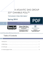 Pan Atlantic SMS Group Omnibus Poll -- Spring 2014