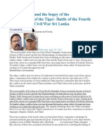 D.B.S.jeyaraj and the Bogey of the Reincarnation of the Tiger Battle of the Fourth Estate in Post Civil War Sri Lanka
