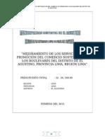 Pip Mejoramiento de Servicios en Boulevares (Marire)