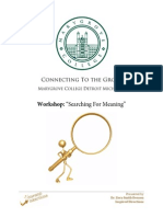 "MARYGROVE ""Search for Meaning"" Career Workshops"