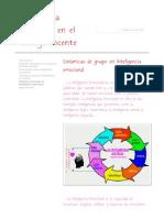 Dinámicas de grupo en Inteligencia emocional - Inteligencia emocional en el trabajo docente